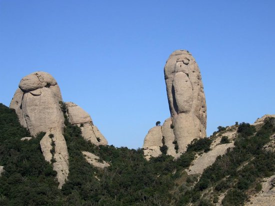 Montserrat, Spain: Spot the climbers