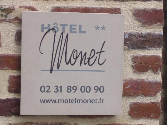 Hotel Monet: plaque