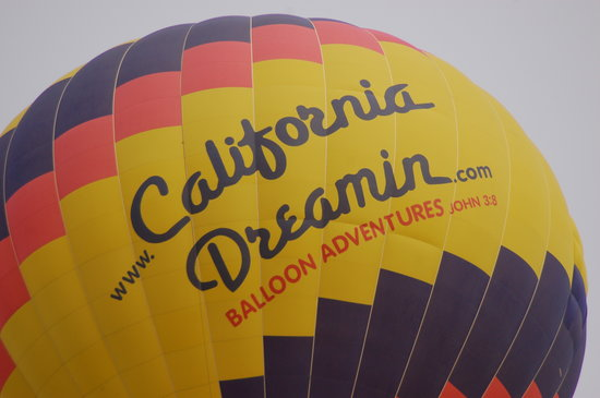 California Dreamin' Balloon Adventures : A picture of the other balloon that was flying that morning