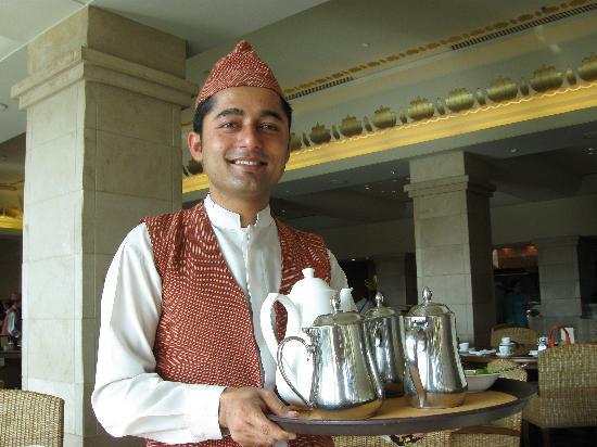 Hyatt Regency Kathmandu: Waiter full of smiles to make your day