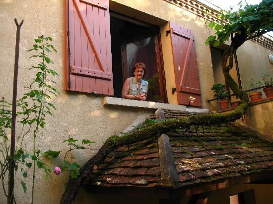 Hotel Delpeyrat : Mi esposa desde la habitacion