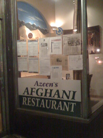 Azeen's Afghani Restaurant: Front entrance of Azeen