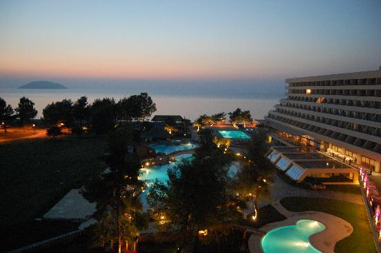 Porto Carras - Sithonia: View from balcony at sunset