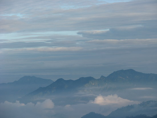 Pauri, India: Himalayan Ranges in the morning