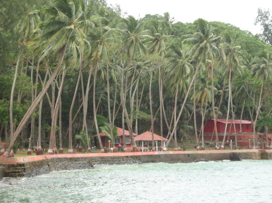 Port Blair, Indien: the ross island (andaman)