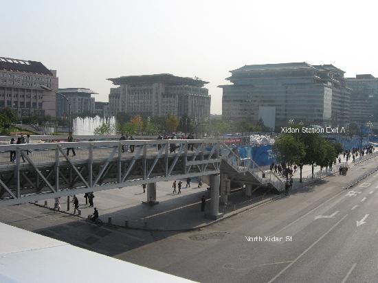 HWA (Apartment) Hotel: Subway station from N Xidan St pedestrian bridge