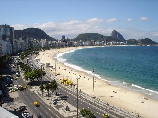 Rio Guest House ( Marta's Guest House): copacabana beach from rio guest house