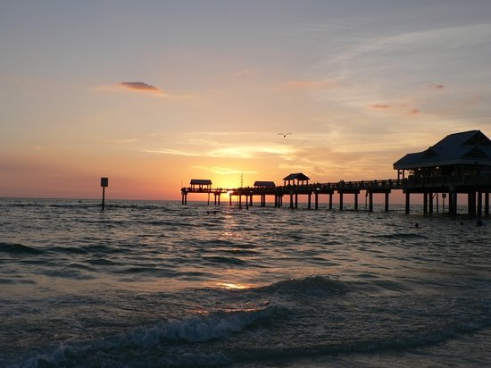 ‪كلير ووتر, فلوريدا: sunset at Clearwater Beach‬