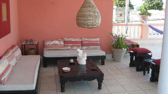 Hotel Julamis: Sitting area upstairs
