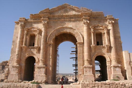 Jerash, Jordan: Arco de Adriano