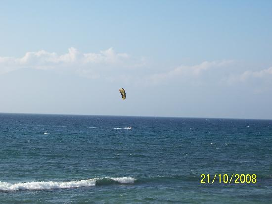 Nohonani Condos: Windsurfer from our lanai