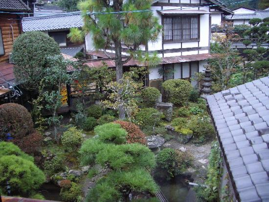 Ryokan Fujioto: View of the Japanese garden from our room