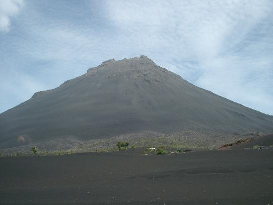 Fogo, Cape Verde: The volcano towering above the vineyards