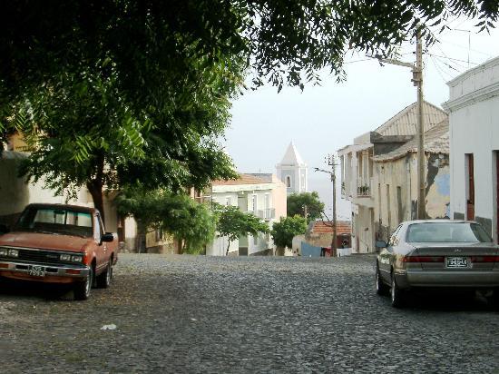 Fogo, Cape Verde: A street in São Felipe