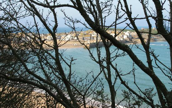Boskerris Hotel: View of St Ives from the coast path