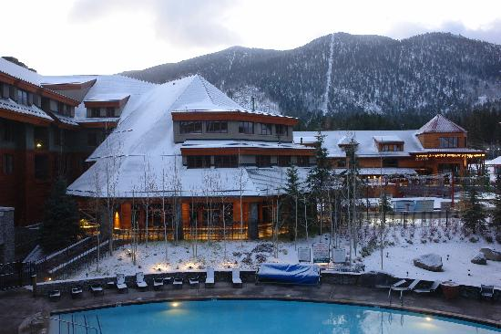Grand Residences by Marriott, Tahoe - 1 to 3 bedrooms & Pent.: First snow at Lake Tahoe-pool view