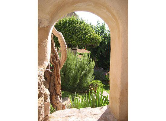 Villa Velleron View of Garden from Patio