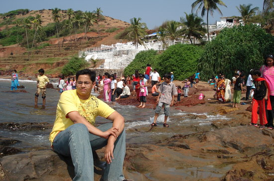 Bardez, Indien: me at anjuna beach ,goa
