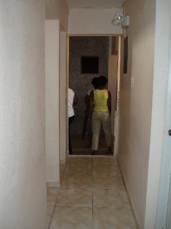 Hotel La Danae : Narrow hallway, la Danae hotel
