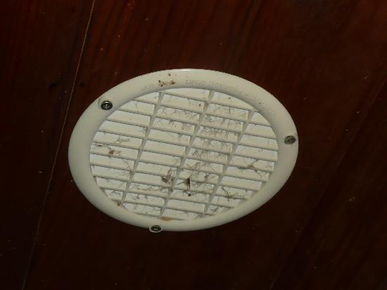 Chambres de Pech Mortier: la vmc des toilettes colmate de crasse
