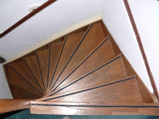 Hotel De Koopermoolen: steile Treppe