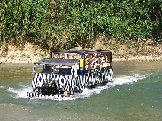 Monster Truck Safari - Puerto Plata Route: Through the river