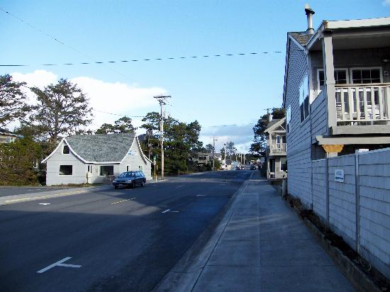 San Dune Inn: main street manzanita in winter