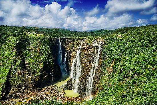 Breathtaking view of Jog Falls from the top
