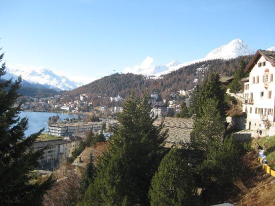 Carlton Hotel St. Moritz: view from room balcony