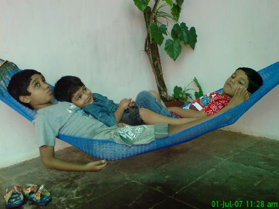 Lion's Den Hotel: Kids on a Hammock