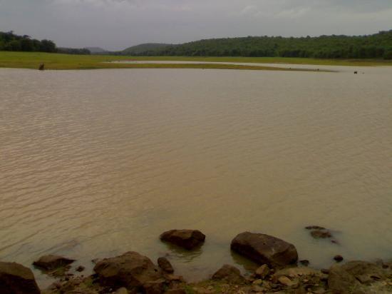 Odisha, India: The river bank