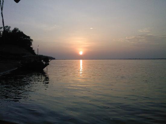 Odisha, India: Sunset at Satapada