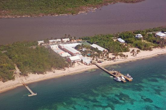 Little Cayman: The resort from the air...