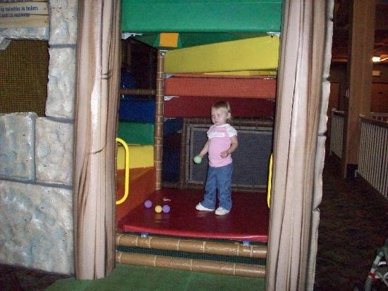 Glacier Canyon Lodge: my 2 yr old in the playplace
