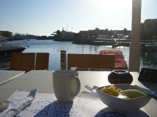 Turtle's Inn: Blick beim Frühstück