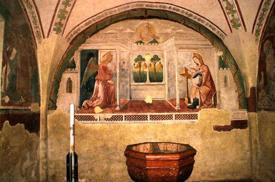 Abbazia di Santa Maria delle Carceri: Il battistero