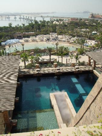 Atlantis, The Palm: The drop into the shark tank!