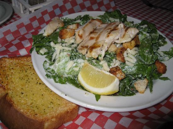 Big Red's Family Restaurant: caesar salad with grilled chicken