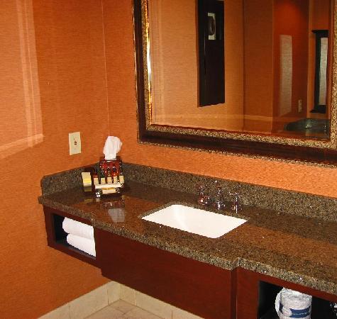 Visalia Marriott at the Convention Center: Bath vanity area.