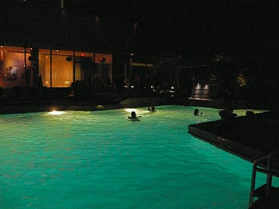 Hotel Bonaventure Montreal: Outdoor pool at night.