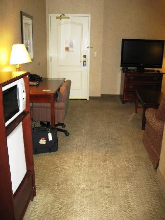 DoubleTree by Hilton Pleasant Prairie Kenosha: View Inside Room Toward Door at Radisson Kenosha