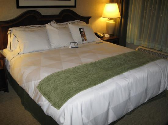 DoubleTree by Hilton Pleasant Prairie Kenosha: Sleep Number bed at Radisson Kenosha