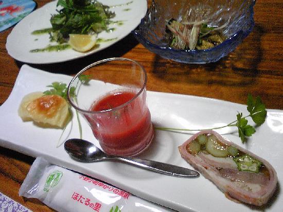 Kameya Mannenkaku: 料理。フレンチのテイストを盛り込んだ創作和食。美味!