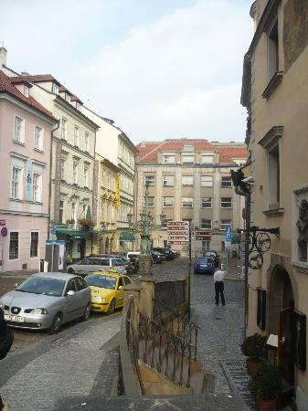 Charles Bridge Bed And Breakfast : The Yellow building on the left is the B&B
