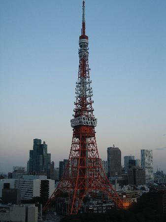 The Prince Park Tower Tokyo: View of the Tokyo Tower from our room