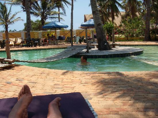 Inhambane İli, Mozambik: Pool at Barra Lodge