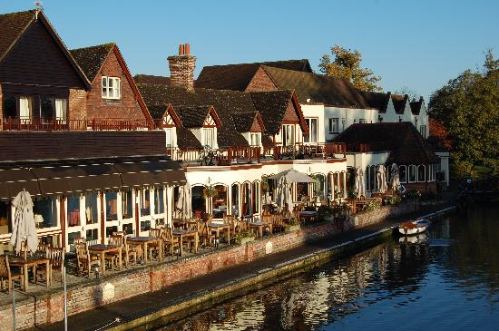 The Swan at Streatley: The Thames side of the hotel