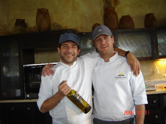 Andeluna Cellars: The chef and his assistant