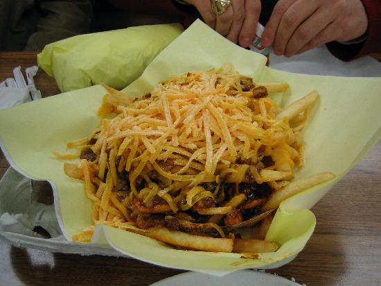 Hat: The chili chees fries!