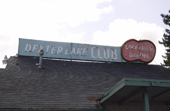 Dexter Lake Club: DLC sign